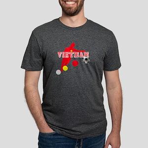 Vietnam Football Player Mens Tri-blend T-Shirt