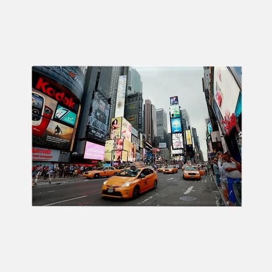 Super! Times Square New York - Pr Rectangle Magnet