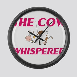 The Cow Whisperer Large Wall Clock