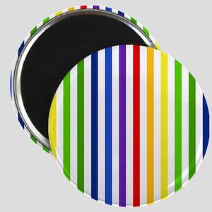 Retro Rainbow Stripes Magnet