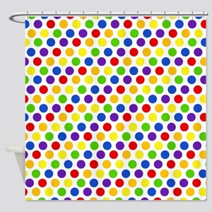 Multi Color Small Polka Dots (2) Shower Curtain
