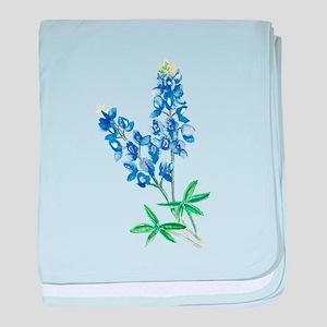 Watercolor Bluebonnet 1 baby blanket