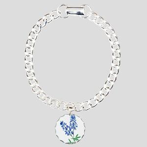 Watercolor Bluebonnet 1 Charm Bracelet, One Charm