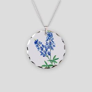 Watercolor Bluebonnet 1 Necklace Circle Charm
