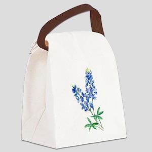 Watercolor Bluebonnet 1 Canvas Lunch Bag