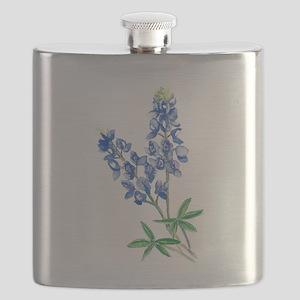 Watercolor Bluebonnet 1 Flask