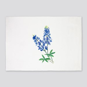 Watercolor Bluebonnet 1 5'x7'Area Rug