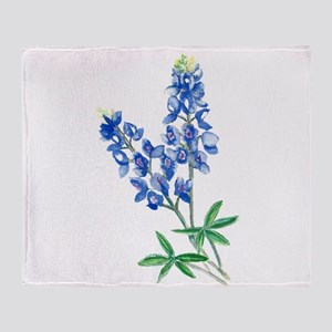 Watercolor Bluebonnet 1 Throw Blanket