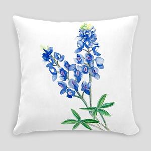Watercolor Bluebonnet 1 Everyday Pillow