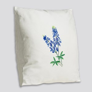 Watercolor Bluebonnet 1 Burlap Throw Pillow