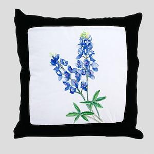 Watercolor Bluebonnet 1 Throw Pillow