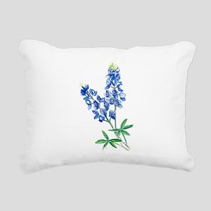 Watercolor Bluebonnet 1 Rectangular Canvas Pillow