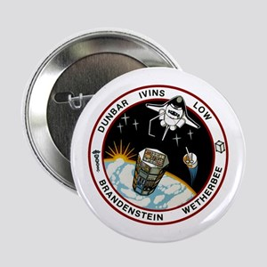 """STS-32 Columbia 2.25"""" Button"""
