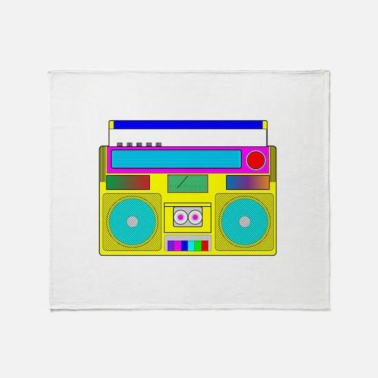 Funky Neon Radio Throw Blanket