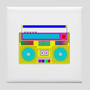 Funky Neon Radio Tile Coaster