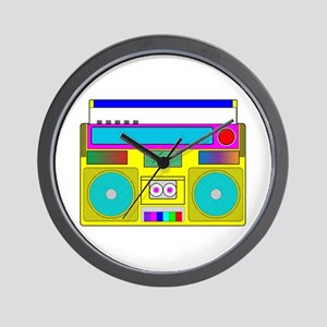 Funky Neon Radio Wall Clock