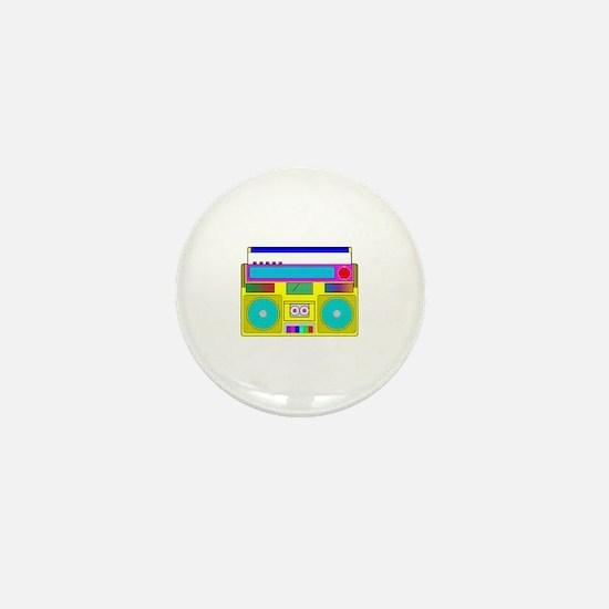 Funky Neon Radio Mini Button