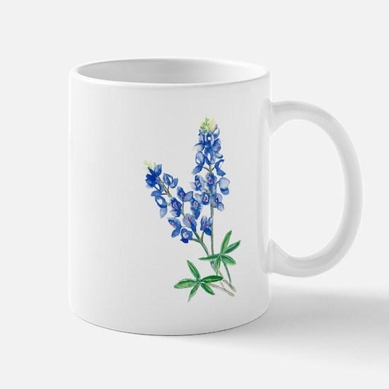 Watercolor Bluebonnet 1 Mugs