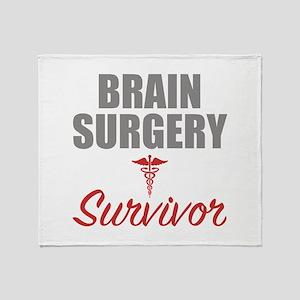 Brain Surgery Survivor Throw Blanket