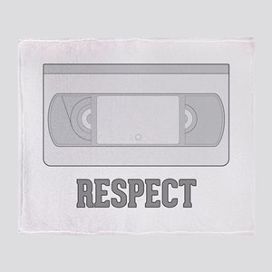 Respect the Video Tape Throw Blanket