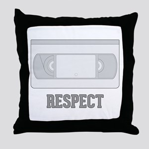 Respect the Video Tape Throw Pillow