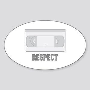 Respect the Video Tape Sticker (Oval)