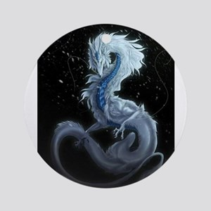 white dragon Round Ornament