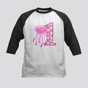 First Birthday Jellyfish Kids Baseball Jersey