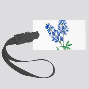 Watercolor Bluebonnet 1 Large Luggage Tag