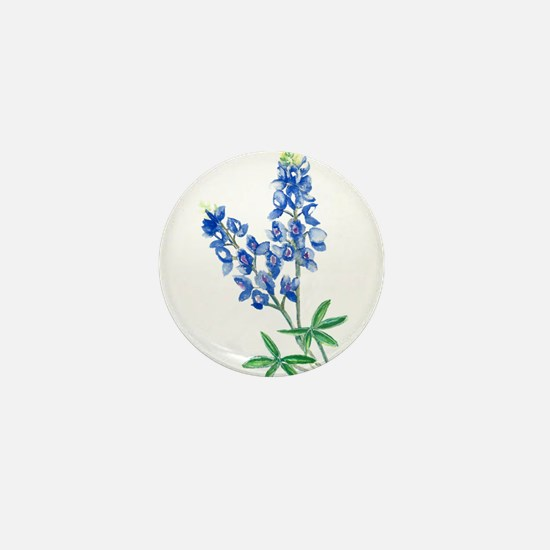 Watercolor Bluebonnet 1 Mini Button