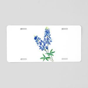 Watercolor Bluebonnet 1 Aluminum License Plate