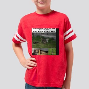 International Feral Cat Day 2 Youth Football Shirt