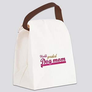 Worlds greatest Dog Mom Canvas Lunch Bag