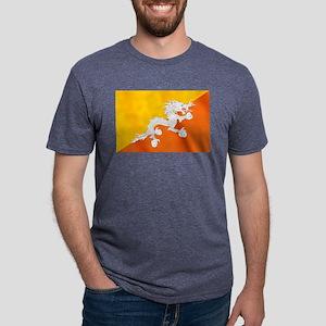 Flag of Bhutan Mens Tri-blend T-Shirt