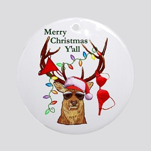 christmas bubba deer ornament round