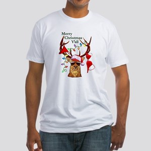 Christmas Bubba Deer Fitted T-Shirt