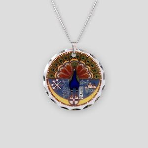 Melek Taus Necklace Circle Charm