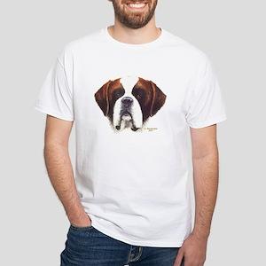 Big Daddy St Bernard White T-Shirt