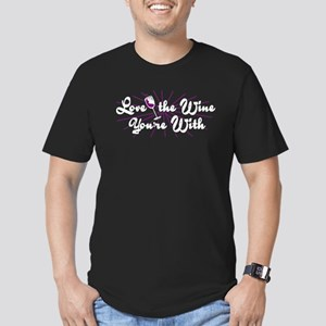 Love The Wine You're With Men's Fitted T-Shirt (da