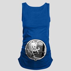 womb-rocker-bw-T Maternity Tank Top