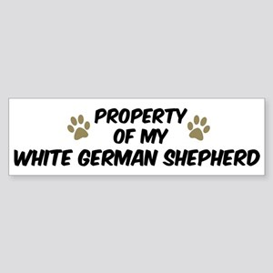 White German Shepherd: Proper Bumper Sticker