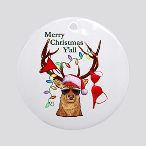 Bubba Deer Christmas Ornament (Round)