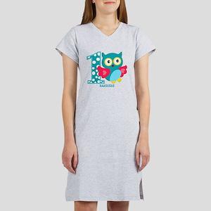 Cute First Birthday Owl Women's Nightshirt