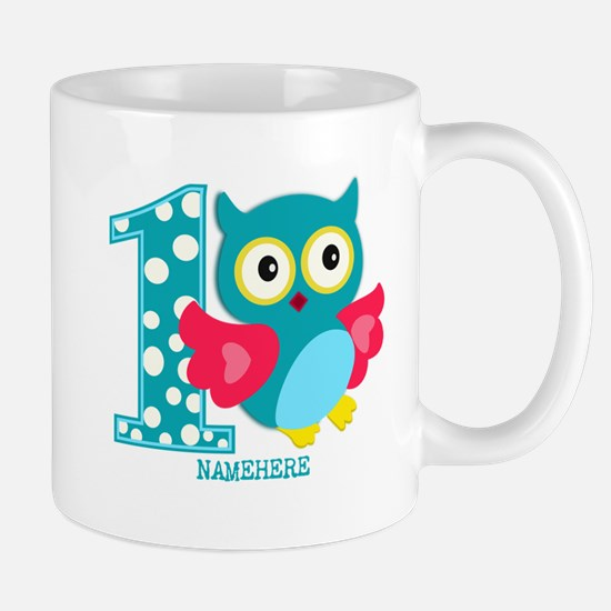 Cute First Birthday Owl Mug