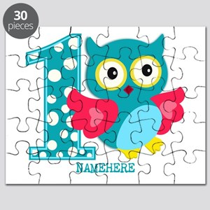 Cute First Birthday Owl Puzzle