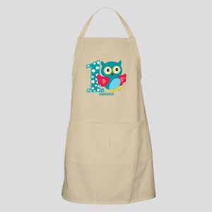 Cute First Birthday Owl Apron