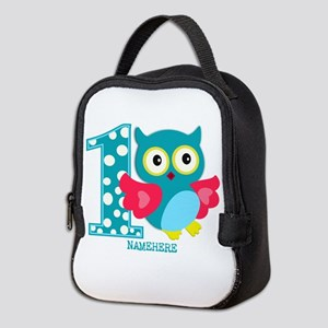 Cute First Birthday Owl Neoprene Lunch Bag
