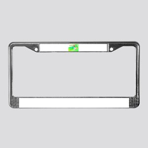 Humorous Iguana License Plate Frame