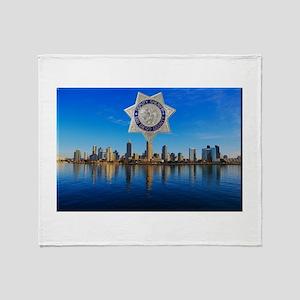 San Diego Sheriff Skyline Throw Blanket