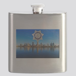 San Diego Sheriff Skyline Flask